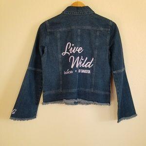 NWT BB Dakota Live Wild Denim Jacket Size Small